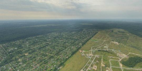 Аэрофотосъемка Пять Холмов, Лесколово, панорама, аэрофото