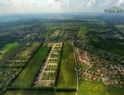 Аэрофотосъемка. Вид сверху на коттеджный поселок Новое Минулово.
