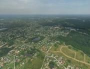 Аэрофото коттеджный поселок «Американская деревня» аэрофотосъемка, панорама