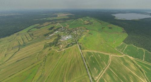 Аэрофото Кавголово, аэрофотосъемка Рапполово, сферическая панорама населенных пунктов