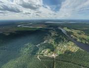 Аэрофотосъемка Запорожское, Переправа, панорама, аэрофото