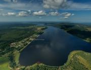 Аэрофотосъемка Удальцово, Светлое, панорама, вид сверху на поселок, аэрофото