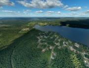 Вид сверху на коттеджный поселок «Солнечный берег», аэрофото, аэрофотосъемка