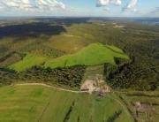 Вид сверху на урочище Чистое поле