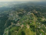Вид сверху на коттеджный поселок «Янтарный бор»