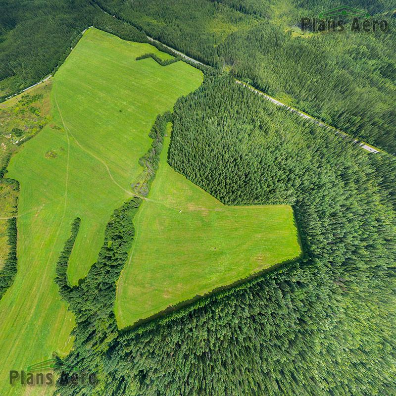 Панорамная Аэрофотосъемка смультикоптера. Угол обзора 125 градусов. Разрешение панорамы 100 Mpx.