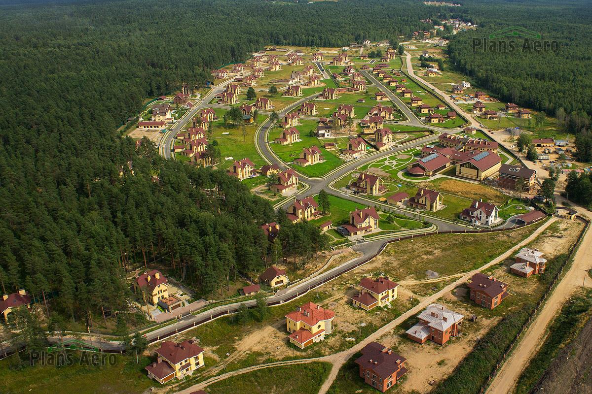 Коттеджный поселок в Ленинском. Аэрофотосъемка