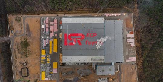 Аэрофотосъемка труднодоступных объектов - крыша завода LSR