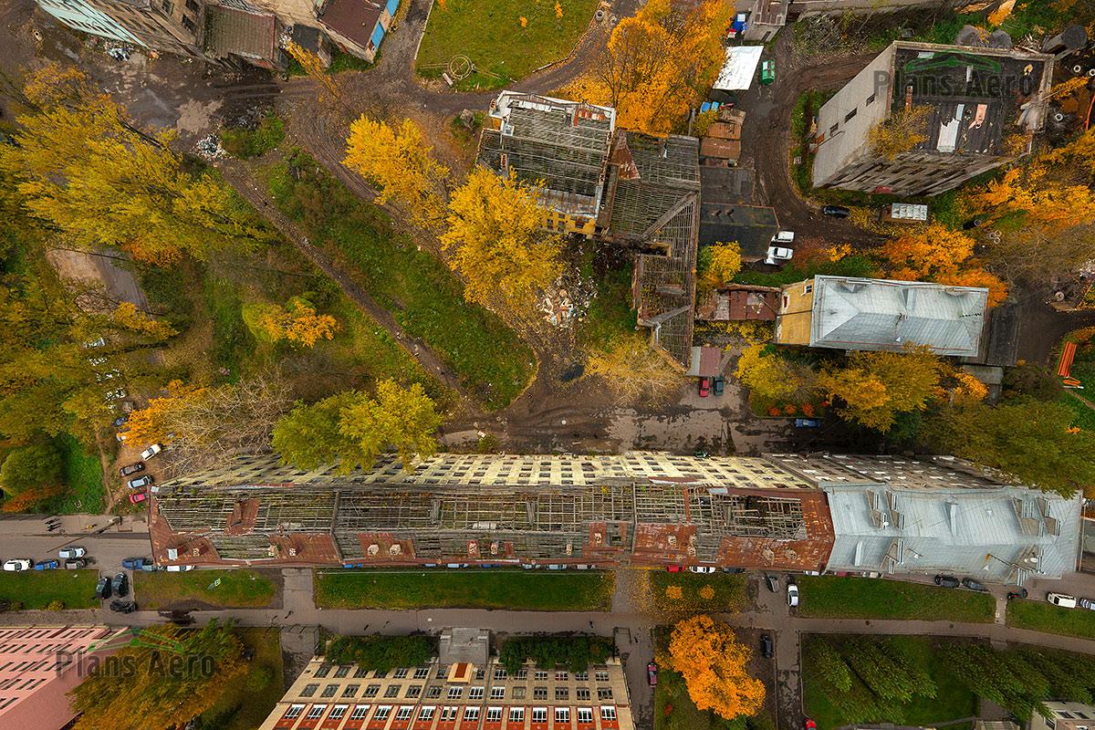 Съемка с воздуха в городской черте