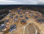 Аэрофотосъемка сферической 3D-панорамы строительства коттеджного поселка в Мистолово