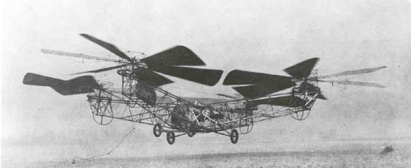 Первые мультикоптеры. Квадрокоптер Ботезата 1923г