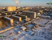 Аэрофотосъемка: Жилой комплекс на пр. Александровской Фермы - Сферическая панорама с воздуха