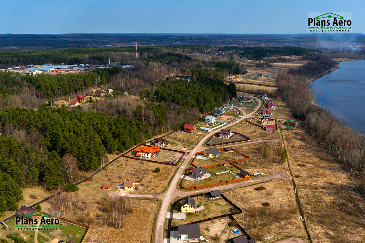 3D панорама с коптера: Коттеджный поселок Северная Корона - Аэрофотосъемка