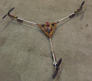Трикоптер. Один из первых мультикоптеров.