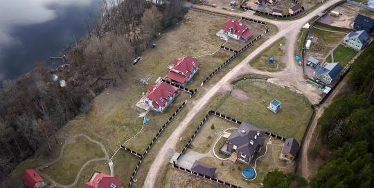 Аэрофотосъемка земельных участков и коттеджных поселков - кп. Северная Корона