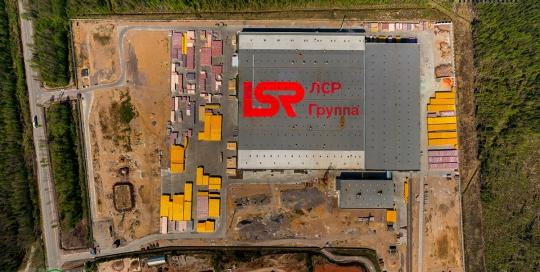 Панорама. Вид с верху: LSR, Группа ЛСР, крыша завода - Аэрофотосъемка