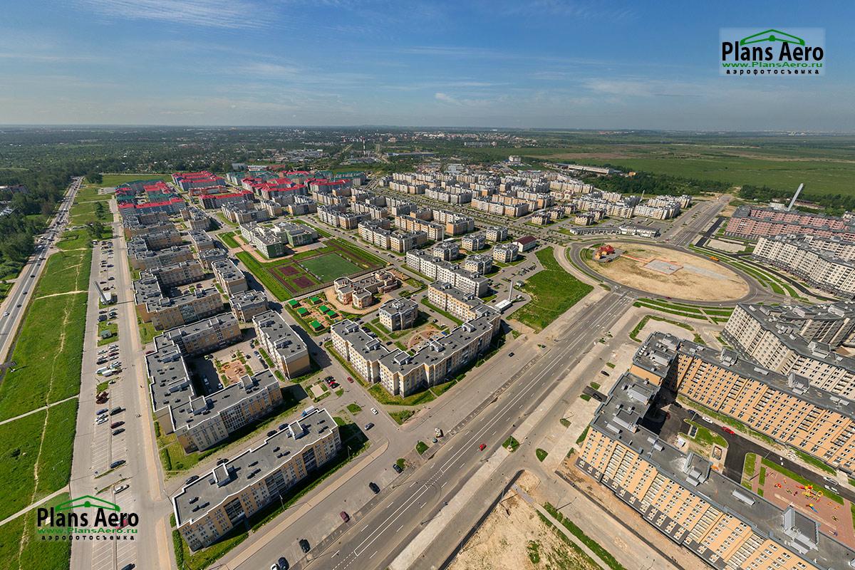 Аэрофотосъемка ЖК Славянка - Общий вид на уже построенную часть