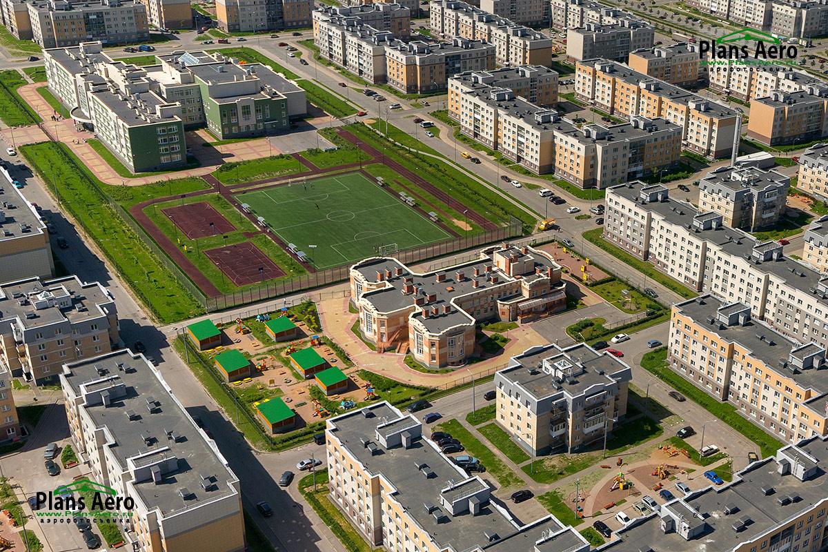 Аэрофотосъемка ЖК Славянка - инфраструктура
