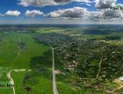 3D панорама с воздуха. Никольское ш.: Поркузи, Феклистово, Мишкино