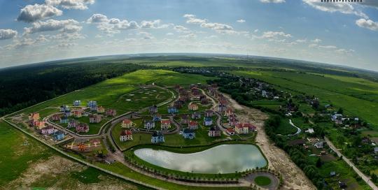 3D панорама с воздуха - КП Мариинская Усадьба.