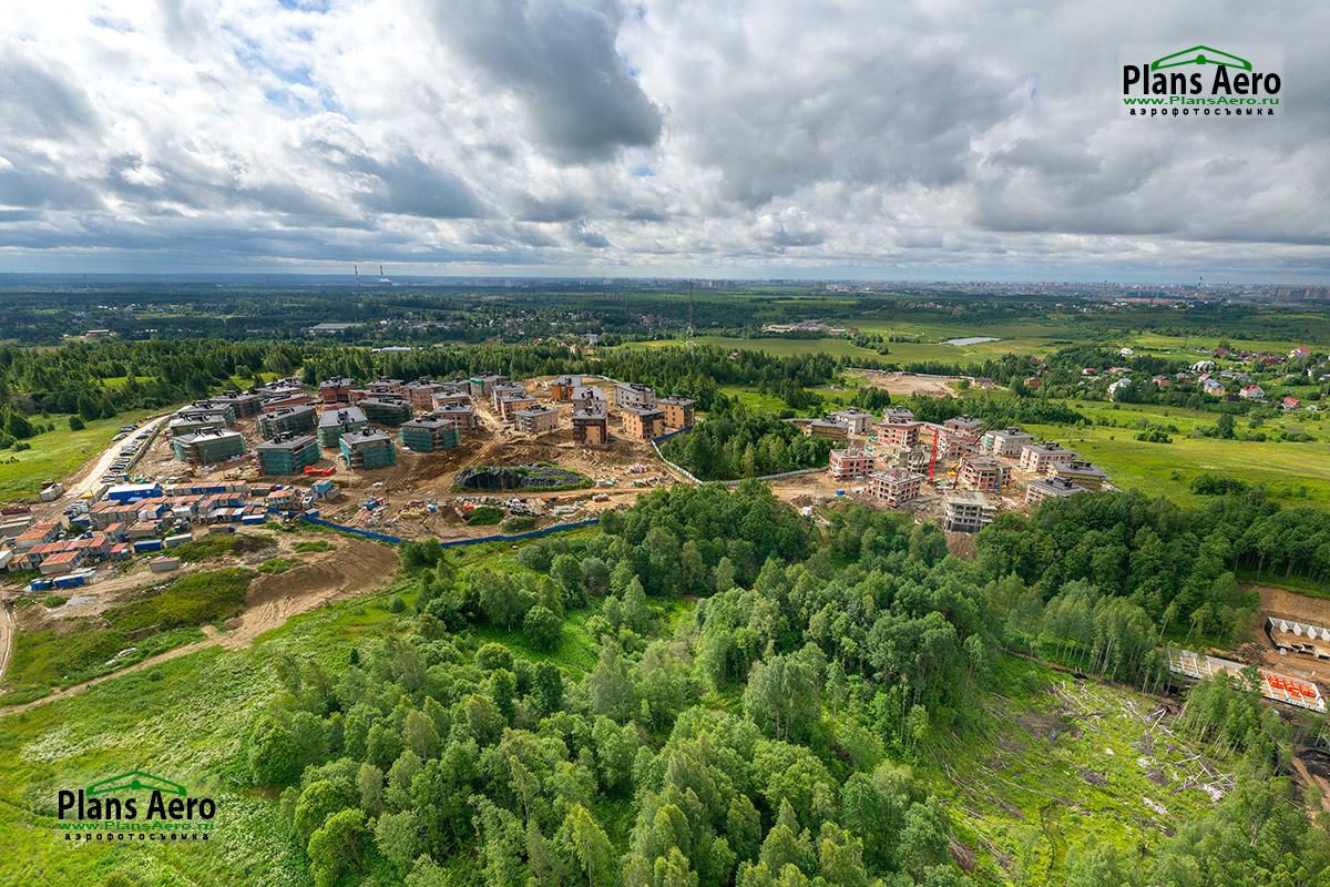 Аэрофотосъемка загородного Жилого Комплекса в п. Мистолово. ПлансАэро