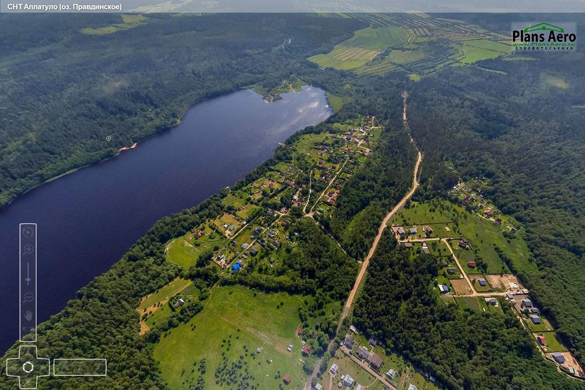 Аллатуло (оз. Правдинское)- 3D Панорама с воздуха =>...
