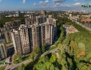 Панорама с воздуха: Жилой комплекс Невский Стиль, Строительный Трест. Аэрофотосъемка