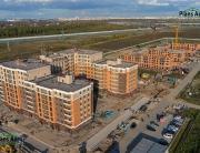 Панорама с воздуха: Жилой комплекс NEWПИТЕР, Строительный Трест. Аэрофотосъемка