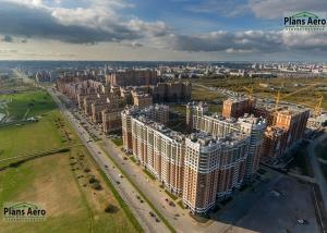 Панорама с воздуха: Жилой комплекс Капитал, Строительный Трест. Аэрофотосъемка