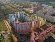 Панорама с воздуха: Жилой комплекс Радужный, ГлавСтройКомплекс. Аэрофотосъемка