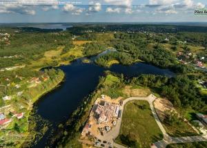 Панорама с воздуха: Коттеджный поселок Озерный Край, Строительный Трест. Аэрофотосъемка