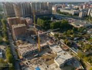 Панорама с воздуха: Жилой комплекс Лиственный, Строительный Трест. Аэрофотосъемка