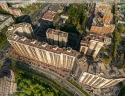 Панорама с воздуха: Жилой комплекс Сергей Есенин, Строительный Трест. Аэрофотосъемка
