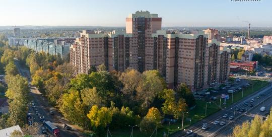 Панорама с воздуха: ЖК Всеволожский Каскад, ГлавСтройКомплекс. Аэрофотосъемка