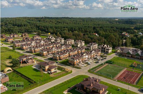 Панорама с воздуха: Коттеджный Поселок Небо, Строительный Трест. Аэрофотосъемка