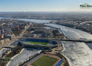 Аэросъемка: Стадион Петровский - панорама