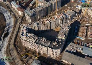 Панорама с воздуха: Жилой комплекс «Самоцветы», ЛенСпецСМУ
