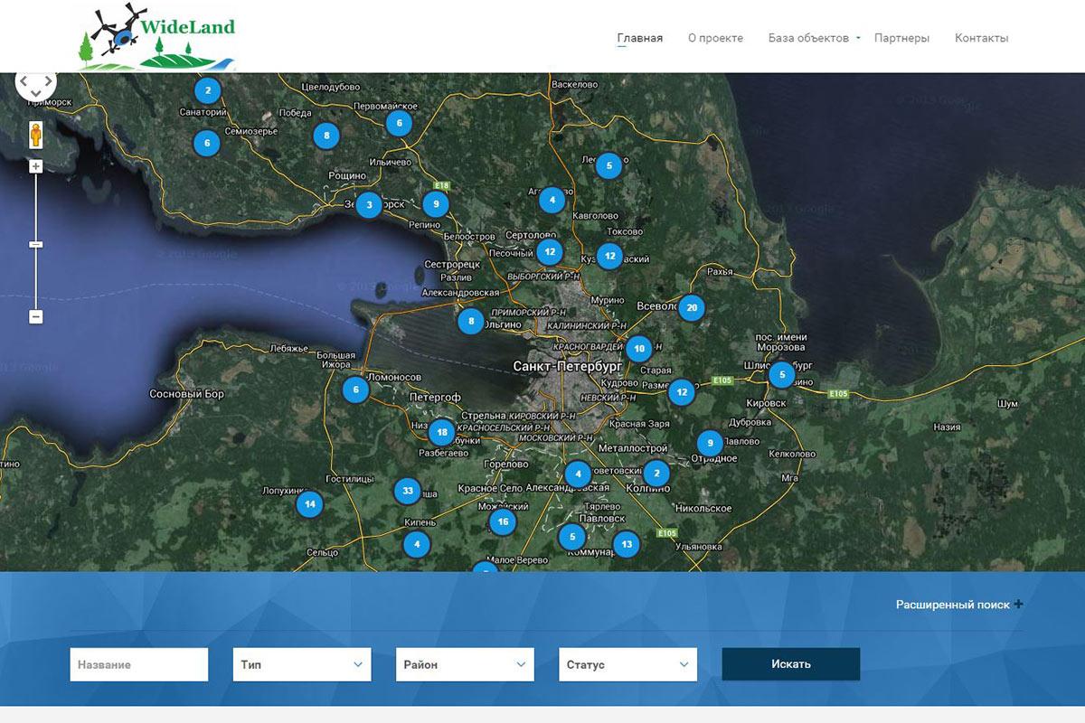 WideLand.ru - коттеджные поселки на 3D панорамах с воздуха