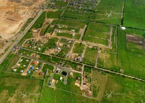 Панорама с воздуха: Родные Просторы Коттеджный поселок