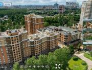 3D панорама ЖК Лиственный, аэросъемка, Строительный Трест